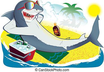 Tiburón de baño de sol