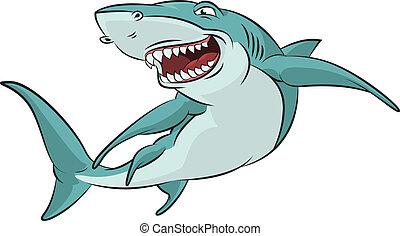 Tiburón de cartón