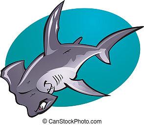 Tiburón martillo de cartón