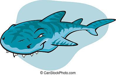 Tiburón tigre de cartón