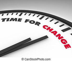 tiempo, -, cambio, reloj
