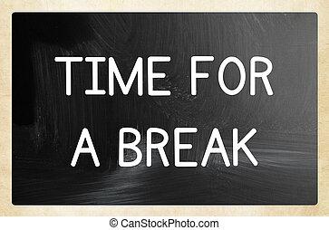 tiempo, interrupción