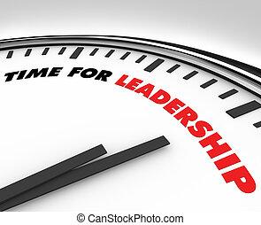 Tiempo para el liderazgo - reloj