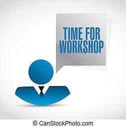 Tiempo para el taller concepto de firma de empresarios