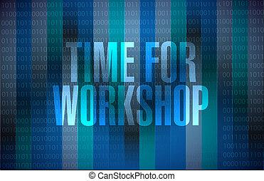 Tiempo para el taller concepto de signo binario