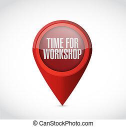 Tiempo para el taller de puntería concepto de señal