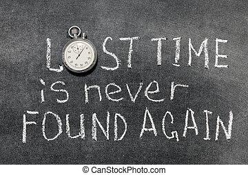 tiempo, perdido