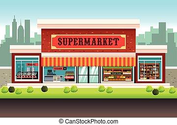 tienda de comestibles, supermercado, tienda