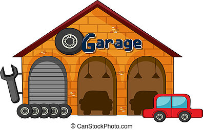 tienda, garaje