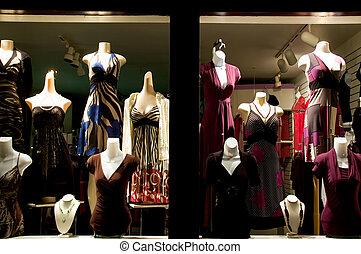 tienda, vestido