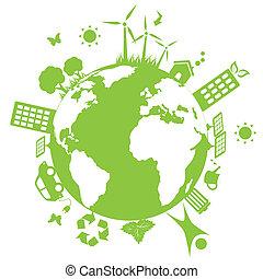 Tierra ambiental verde