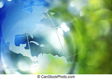 Tierra azul y verde