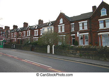Tierra de casas en Inglaterra del norte