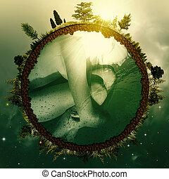 Tierra de los Embrujos. Abstrae los antecedentes ambientales para tu diseño