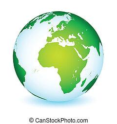 tierra de planeta, global, icono, mundo