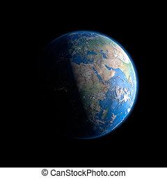 Tierra del espacio exterior
