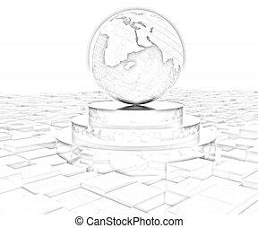 Tierra en el podio