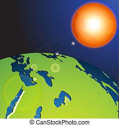 Tierra en el sistema solar