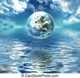 Tierra sobre el agua