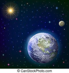 tierra, sol, luna