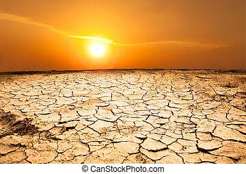 tierra, tiempo, sequía, caliente