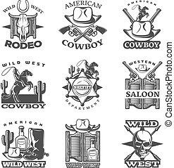 tierra virgen al oeste, conjunto, emblema