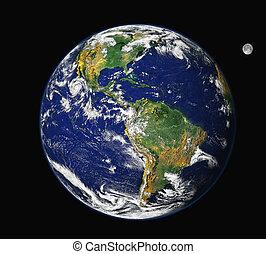 Tierra y luna - América