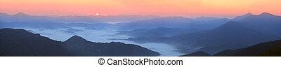 tierras altas, carpathians, ucranio