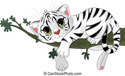 Tiger está en una rama