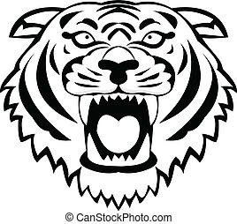 tigre, tatuaje