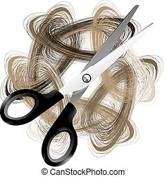 Tijera y pelo