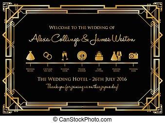 timeline, plano de fondo, gatsby, boda