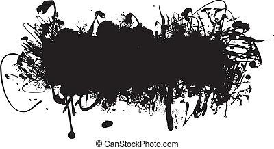 tinta negra, salpicadura