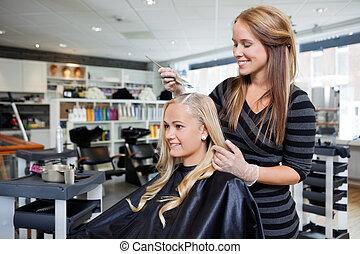 tinturapara el cabello, salón, belleza
