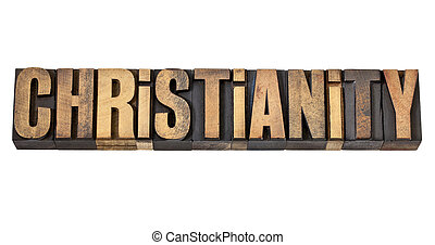 tipo, madera, palabra, cristianismo
