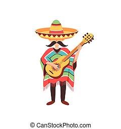 Tipo mexicano con guitarra