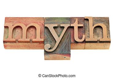 tipo, mito, texto impreso