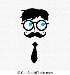 Tipo nerd con bigote