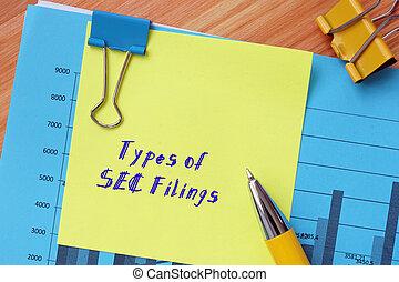 tipos, significado, concepto, intercambio, empresa / negocio, limaduras, sheet., inscripción, seguridades, sec, comisión