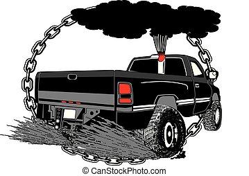 Tirando de un camión para Canstock