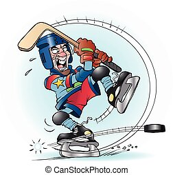 tiro, hockey, bofetada