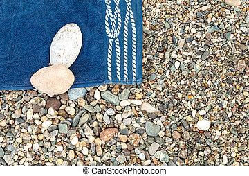 Toalla de playa azul