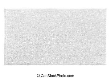 Toalla de playa blanca aislada en blanco