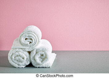 Toallas de spa blancas