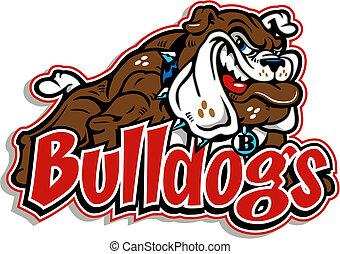 Todo el cuerpo sonriente bulldog