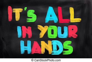 Todo está en tu concepto de manos