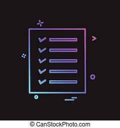 Todo lista vector de diseño de iconos