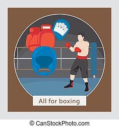 Todo para ilustración de vectores de boxeo