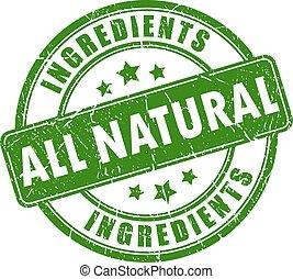 Todos los ingredientes naturales estan