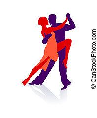 toma, él, tango, dos